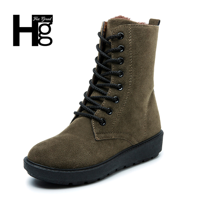 HEE GRAND Bottines Femme Plates pour Automne 4UGOvF
