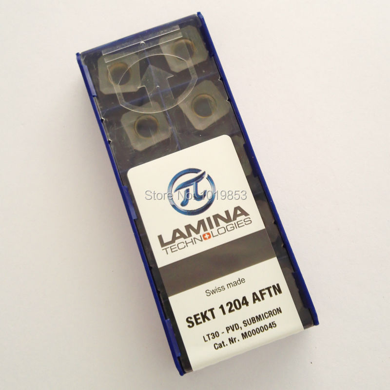 SEKT1204 AFTN LT30 carbide inserts for milling cutter CNC machine wcmx080412 nn lt30 swiss made lamina original carbide inserts for u drill