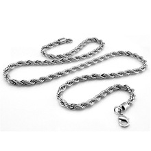 New fashion men necklace. 925 sterling silver retro chain. 5 mm 61cm solid thick Wholesale jewelry
