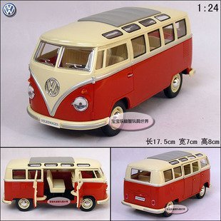 Vw volkswagen classic bus alloy car model free air mail