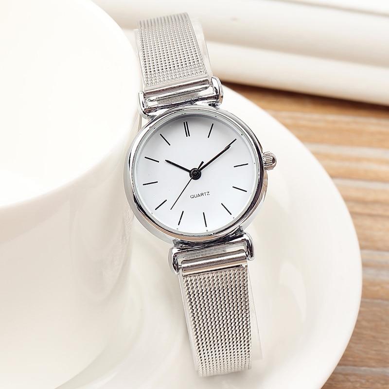 Top Brand Unique Fashion Mini Watches Simple Casual Steel Mesh Women's Watches Ladies Small Dial Watch Clock Relogio Feminino