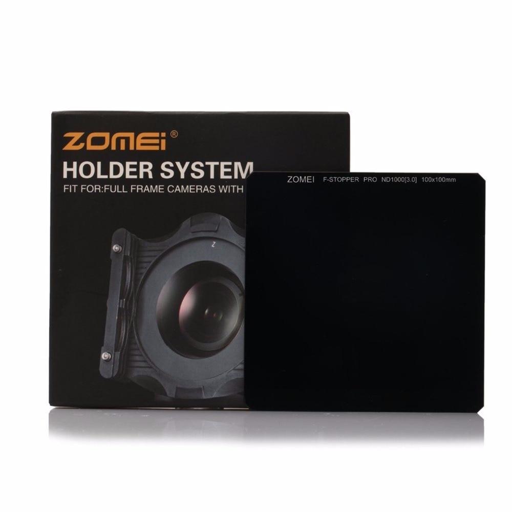 ZOMEI Pro 100*100mm Neutral Density Optical Glas ND1000 ND64 ND8 Platz filter für Canon Nikon digital DSLR