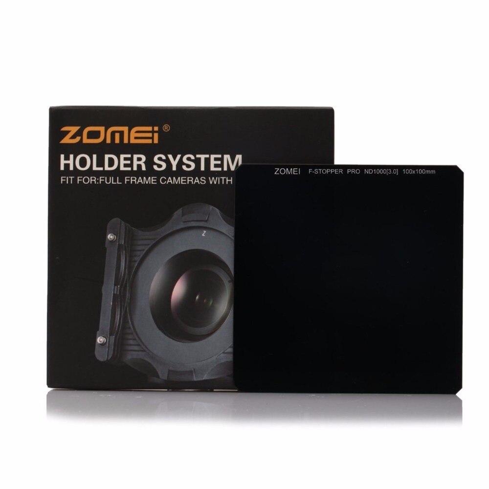 ZOMEI Pro 100*100mm Neutre Densité Optique Verre ND1000 ND64 ND8 filtre Carré pour Canon Nikon numérique DSLR