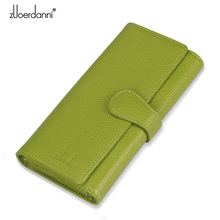 Zuoerdanni 2015 New Hot Sale Wallet Womens Genuine Solid Leather Fashion Women Gift for High Quality