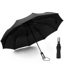 Wind Resistant Folding Automatic Umbrella 10K Parasol of self opening business reinforcement windproof three folding umbrella