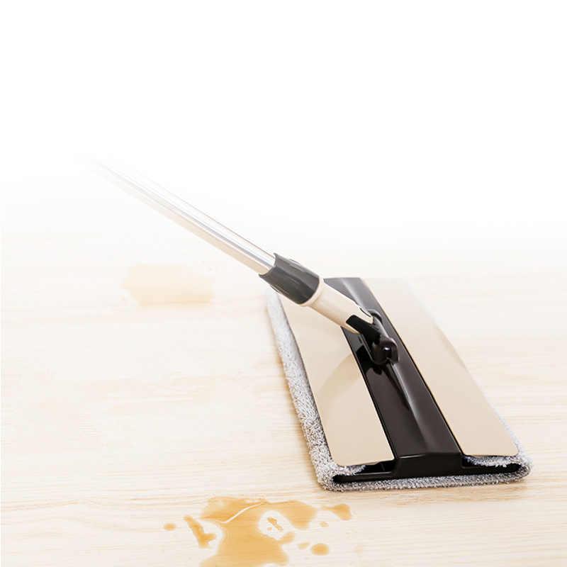 Flat Mop Para Piso Duro Preguiçoso 360 Graus De Limpeza Vassoura Balde Poeira Cabeça Impulso Da Mão Tecido Microfibra Pano Ajudante Hosehold