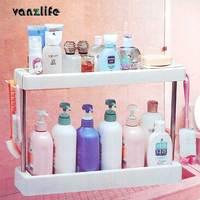 vanzlife kitchen bathroom storage rack shelving versatile organizing frame storage rack for toiletries