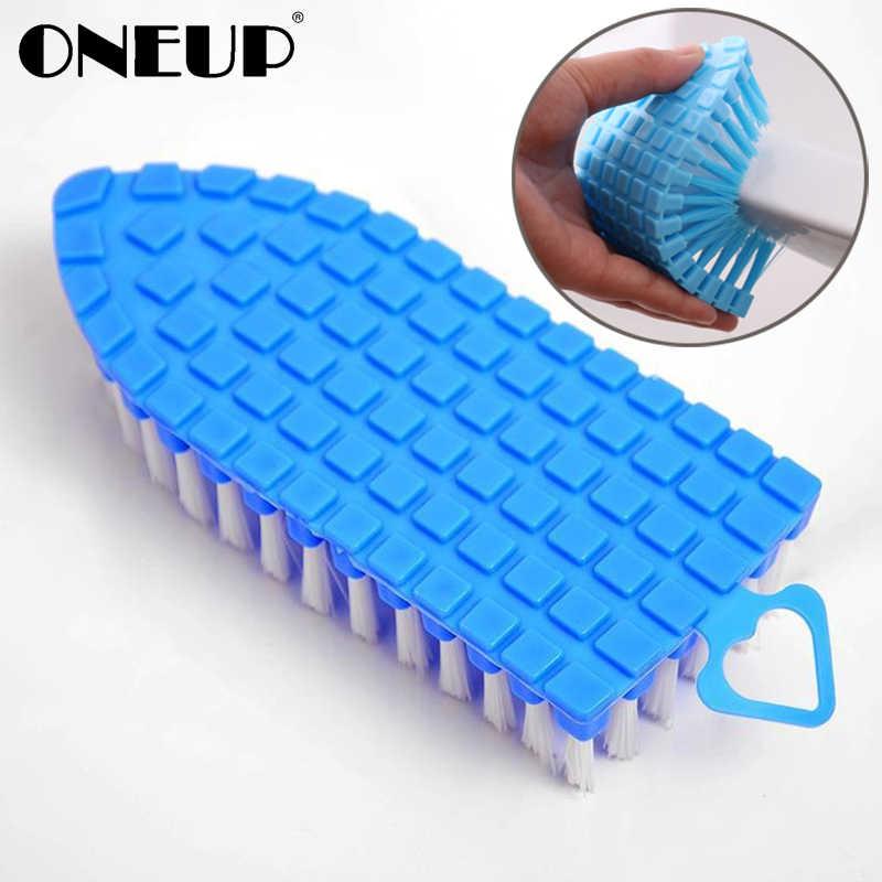 ぶら下げ ONEUP クリーニングブラシ 360 度柔軟なコーナー台所のシンクの蛇口コーナー洗濯トイレクリーン起毛