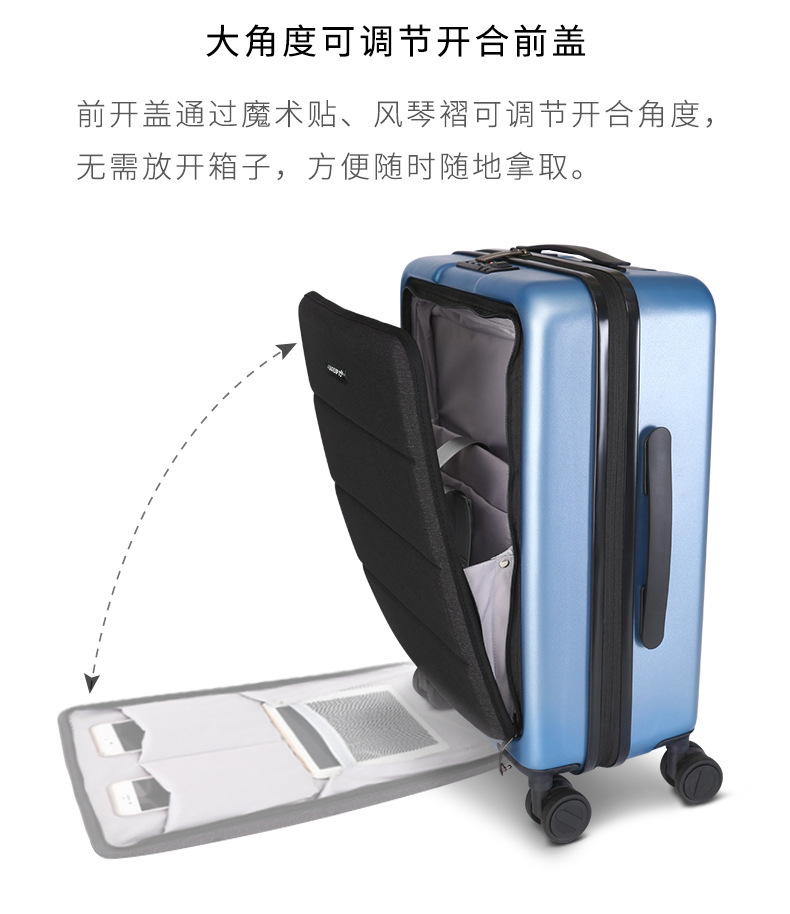 Casual Travel Trolley Luggage Aluminum Frame Alloy Business Rolling Luggage Airplane Suitcase Spinner Wheels 20inch (5)