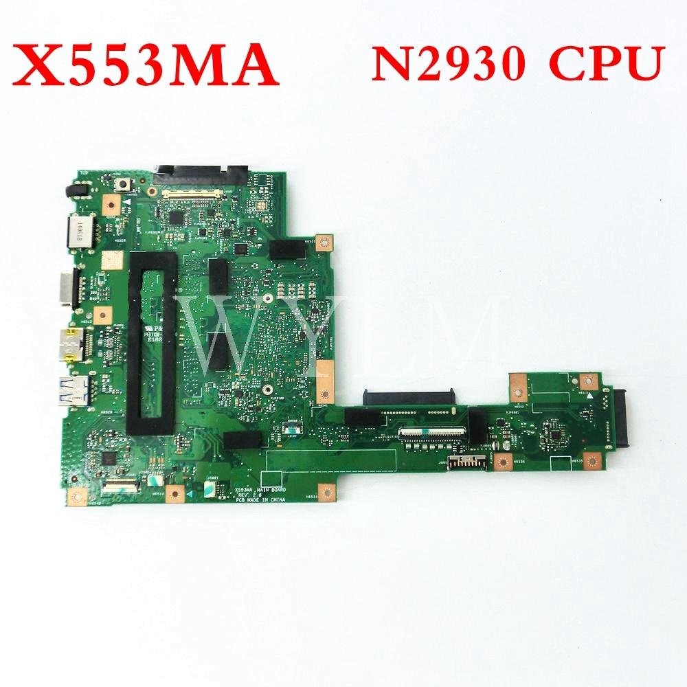 X553MA Avec N2930 CPU carte mère REV2.0 Pour ASUS F503M X503M F553MA X503MA D503M X553M X553MA carte mère Pour Ordinateur Portable Testé