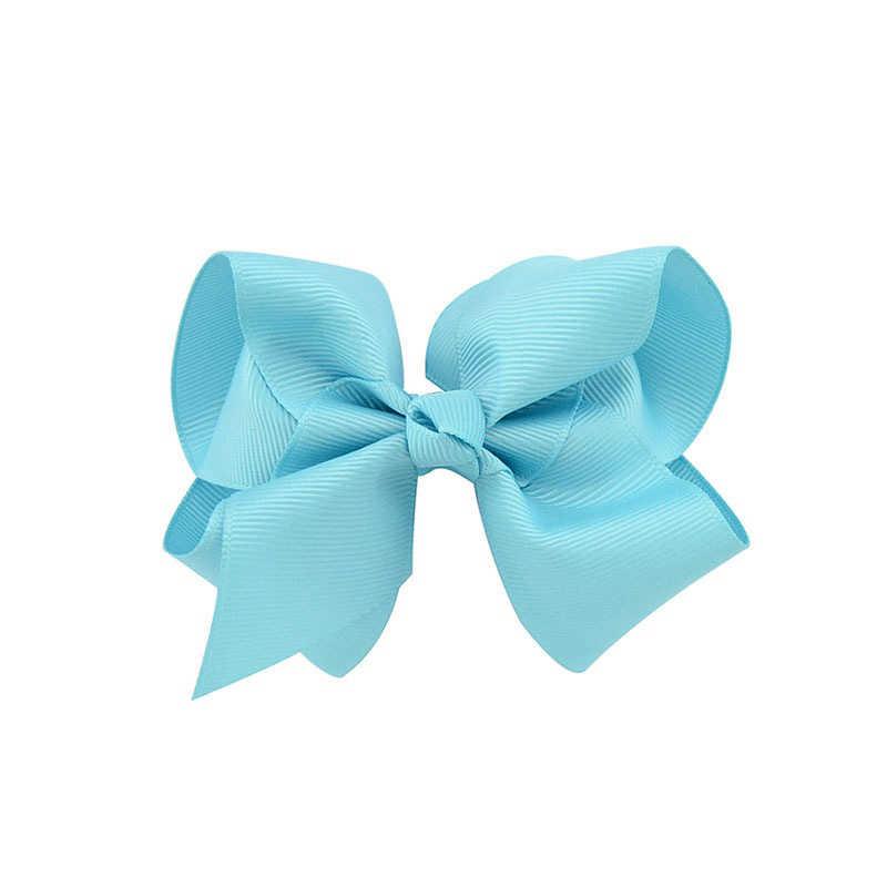 1 шт. 4 дюйма для новорожденных девочек бант шпильки заколка для волос для новорожденных заколки для девочек Твердые аксессуары для волос младенцев тиара