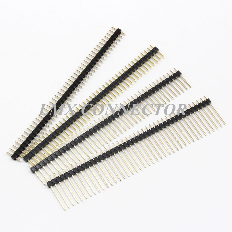 20pcs 2.0mm Male Pin Header Connector 1x40P Single Row Straight Needle L8.7mm/12mm/15mm/17mm/18mm/20mm Copper Gold Plated free shipping gold plated copper 20pcs 40pins 2 54mm single row straight male pin header strip for pcb 20pcs lot
