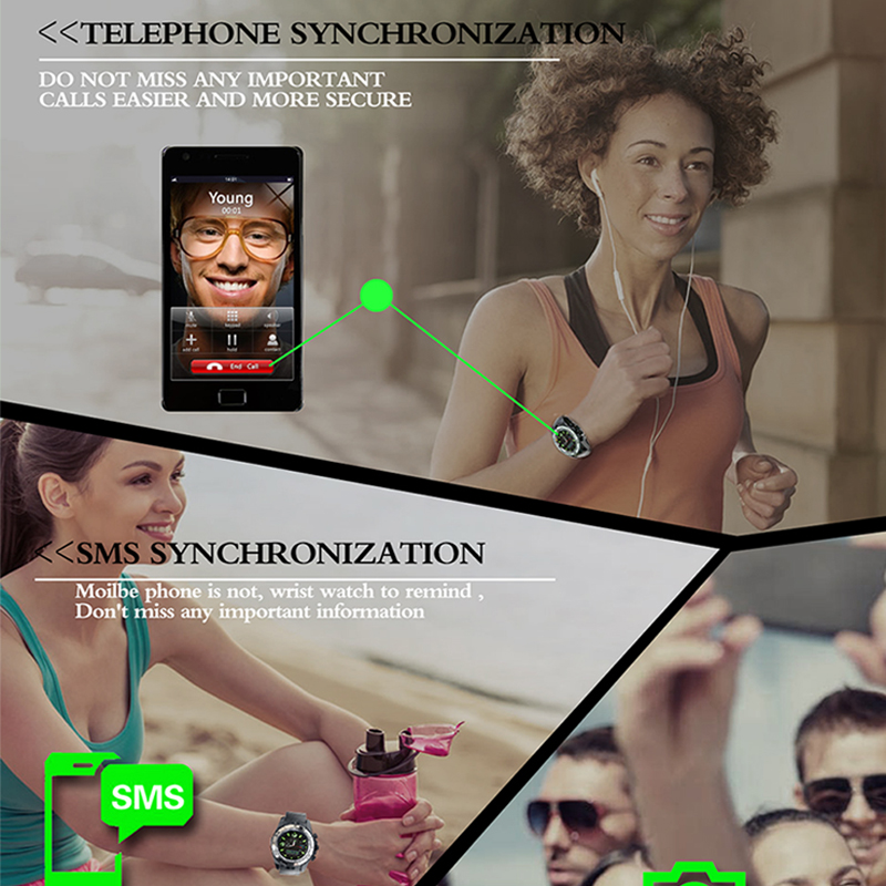 Bluetooth Camera Men's Sport Smartwatch 2