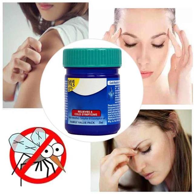 1 box Cold Steam Rub Congestion Cold Headache Relief Menthol Eucalyptus Essential Balm Oil Tiger