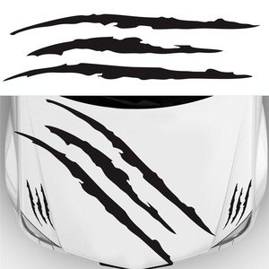 3Pcs/set Auto Car Sticker Reflective Monster Claw Scratch Stripe Marks Headlight Decal Car Headlight Scratch Stripe Claw Sticker(China)