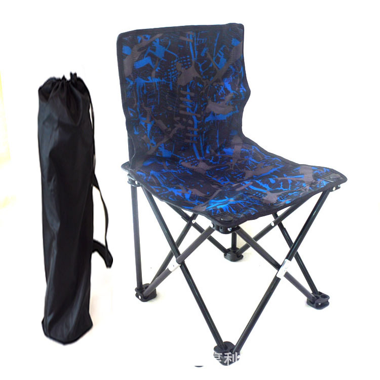 Outdoor ultra light Aluminum Alloy steel portable folding chair stool sketching train camping fishing chair art set color random aluminum alloy portable folding chair