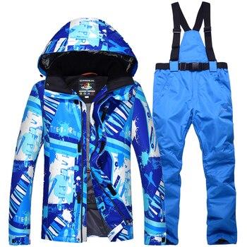 New Winter Snowboarding Men Sets Waterproof Windproof Ski Suit Climbing Skiing Warm Winter Jacket+Pant Snow Outdoor Clothes