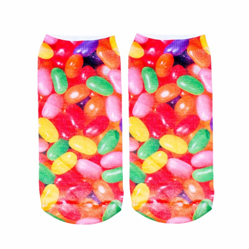 Fashion 3D Socks For Women Men Rainbow Candy Charactor Stylish Gift