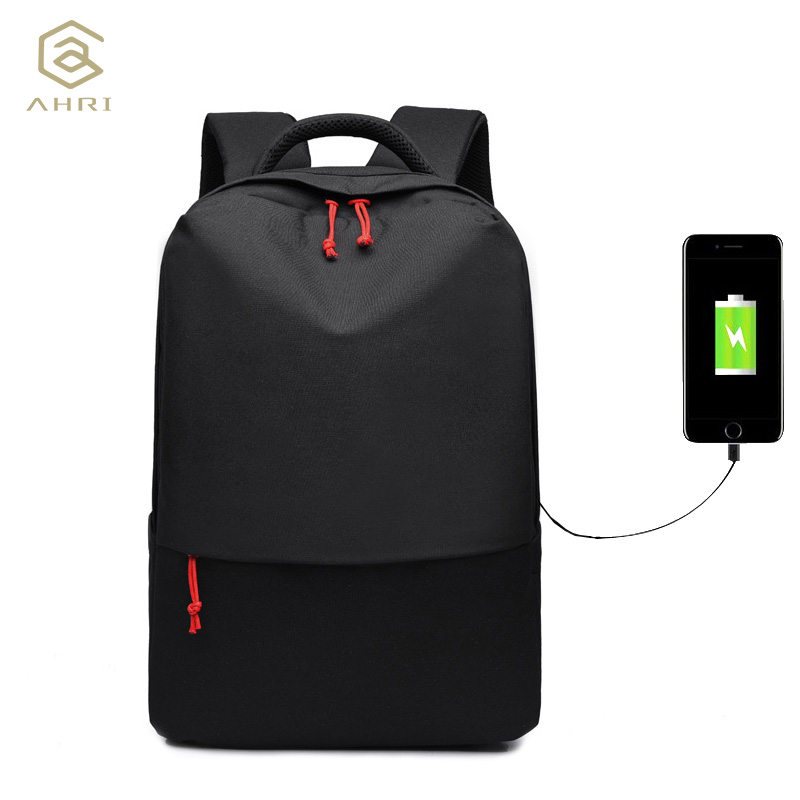 AHRI 2017 New Design brand men backpack anti theft External USB charge port for 14 laptop backpack school backpack bag