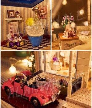 Kit Artigianali Per Adulti | Casa Delle Bambole In Miniatura Provence Villa DIY Unisex Artigianato In Legno Dollhouse Con Mobili Adolescente Adulto Giocattoli Corredi Di Costruzione Di Modello