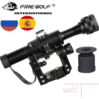 4x24 PSO Type Riflescope SVD Sniper Rifle Series AK Rifle Scope for Hunting Sight