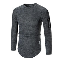 Hot Sale New Spring High Elastic Cotton T Shirts Men S Long Sleeve O Neck Tight