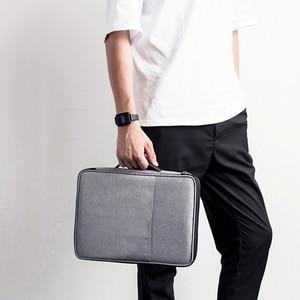 Image 4 - Panno di Oxford Multi Funzionale A4 Grande Cerniera Capacità Ufficio Portatile Impermeabile Per Notebook sacchetto di Immagazzinaggio Unisex Borsa Per Documenti