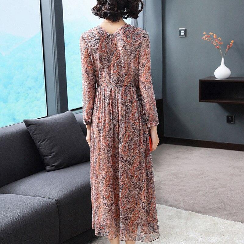 Mince Vintage Robes D'été Longue 2019 Sleeve D'impression Tcyeek sleeveless Party Soie Mujer long Robe Femmes Vêtements Sleeve Short Floral Lwl1491 0PnkOw
