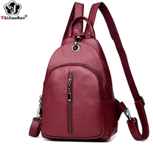 Famous Brand Leather Female Backpack Casual Women Backpack Large Capacity Bookbag Simple Shoulder Bags for Women Mochila Mujer