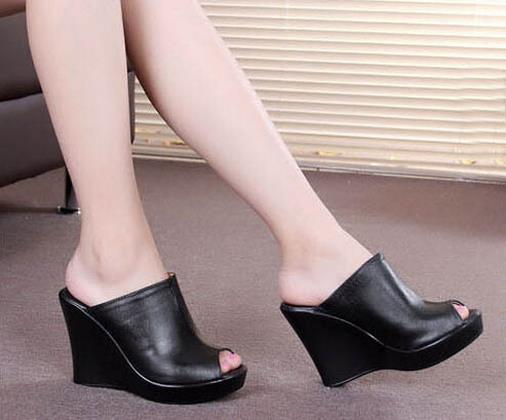 Summer Shoes Sexy Mules Clogswomen Fashion genuine 2015 High Heels Nny8OvmP0w