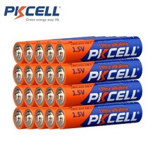 20 X PKCELL LR03 1.5V Battery AAA Alkaline Dry Batteries E92 AM4 MN2400 MX2400 1.5Volt AAA Battery 3A Bateria Baterias