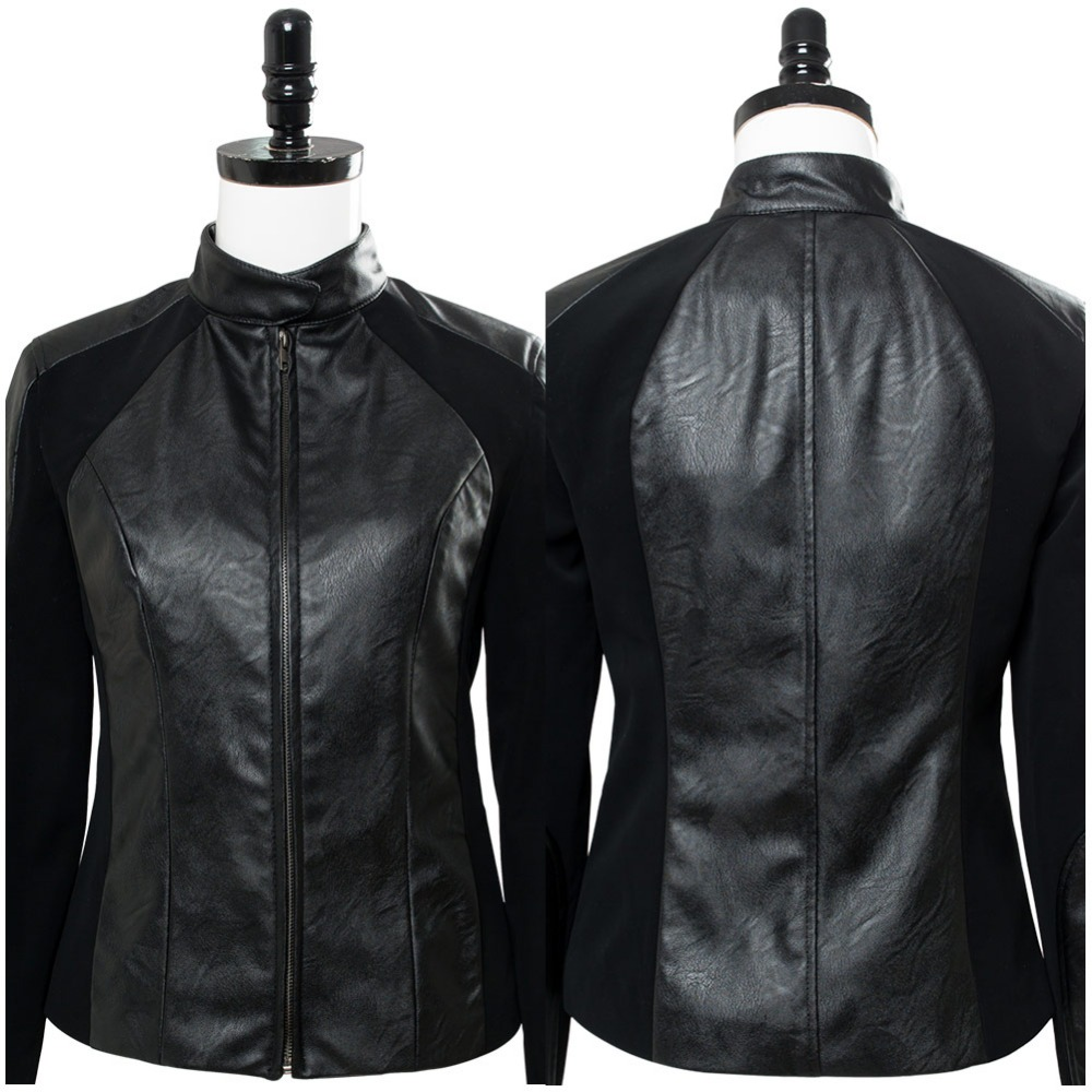 2018 Mission: Impossible - Fallout Rebecca Jacket Cosplay Costume Adult Women Girl Black Coat Halloween Costumes Custom Made