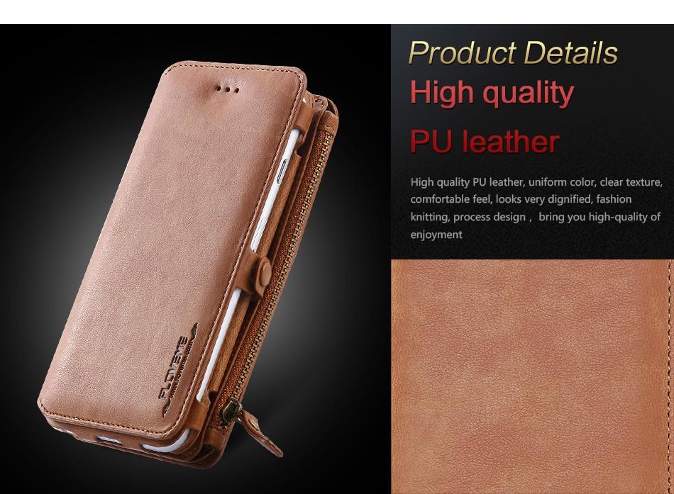 Floveme oryginalny retro skóra telefon case for iphone 6s 6 4.7 dla iphone6s iphone 6s przypadki metalowy pierścień coque pokrowce na iphone 7 3