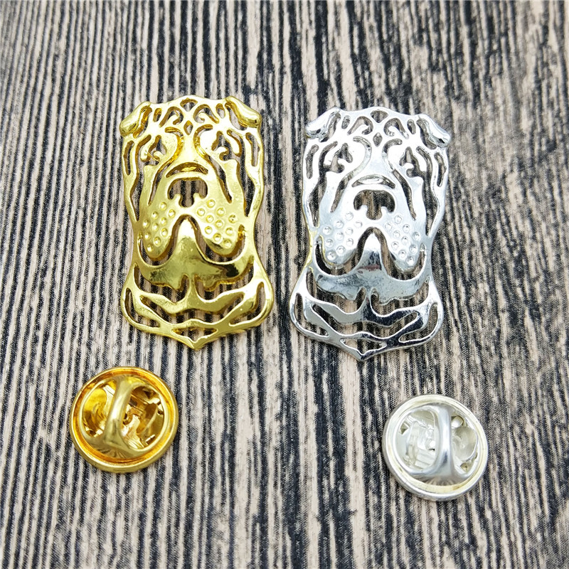 LPHZQH Fashion Chinese Shar-Pei Pet Dog Broches and pins Collars animal Jewelery Lapel Pins Clothing Accessories Men's Gift