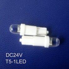 Высокое качество 24 V T5 светодиодная приборная подсветка, T5 24 V светодиодный индикатор светодиодный предупредительный светодиод T5 световой сигнал 50 шт./лот