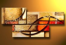 hand-painted best-selling  Multicolored wall High Q. Home Decoration Modern Abstract Oil Painting on canvas 3pcs/set mixorde