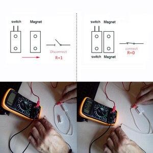 Проводной дверной и оконный датчик MC38, недорогой магнитный переключатель, нормально закрытый, для дома, gsm, pstn, система сигнализации