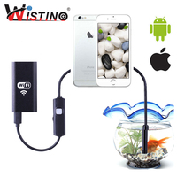 Wistino 8mm Len 720P Hard Cable Mini Wifi Endoscope Wi Fi For Phone Camera Android Inspection