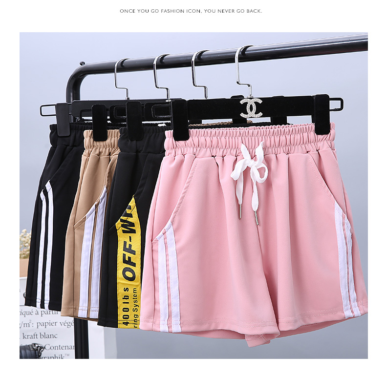 Women Sport Drawstring Running Shorts Anti Emptied Cotton Contrast Elastic Waist Correndo Shorts GYM Yoga Workout Shorts