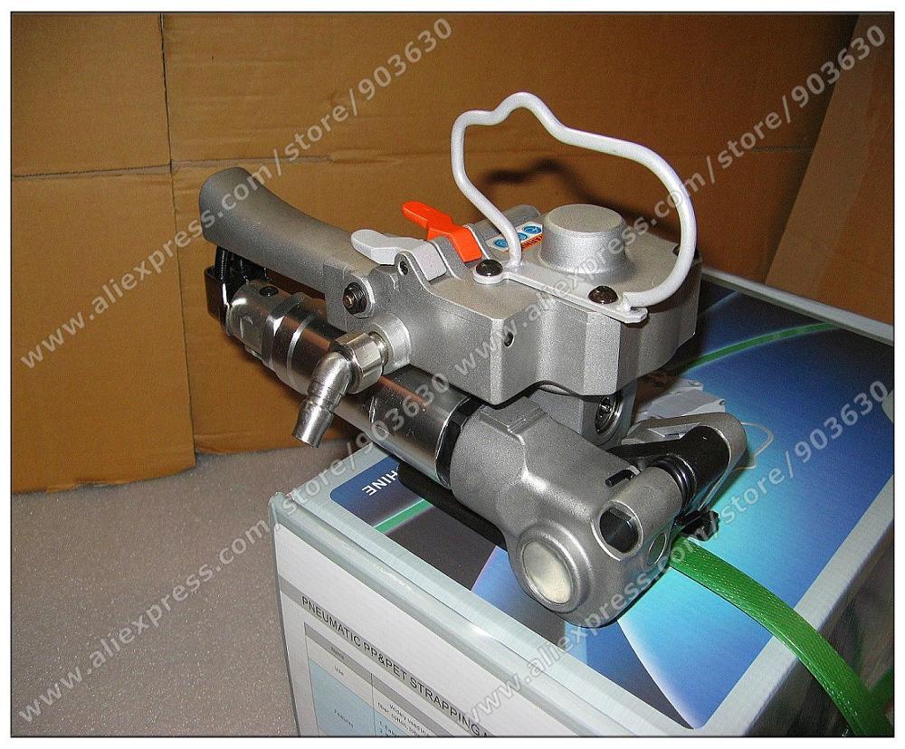 Оптовая продажа китайской AQD 19 пневматические Sealless в сочетании машинка для упаковки ПЭТ лентой упаковочная машина для PP Пластик полосы 13 19 мм