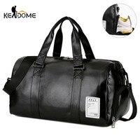 Спортивная сумка кожаные спортивные сумки большой MenTraining Tas для обувь леди Фитнес Йога путешествия чемодан плечо черный Sac De Спорт XA512WD