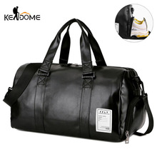 Gym Bag Leather Sports Bags Big MenTraining Tas for Shoes La