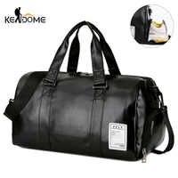Sac De Sport en cuir sacs De Sport grandes MenTraining Tas pour chaussures dame Fitness Yoga voyage bagages épaule noir Sac De Sport XA512WD