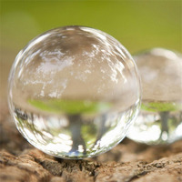 1pc 100mm Clear Round Glass Artificial Crystal Healing Ball Sphere Home Decoration Drop Shipping