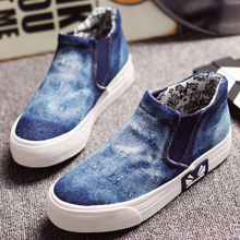 Free shipping high-top heavy-bottomed cowboy canvas shoe foot loafers casual shoes student