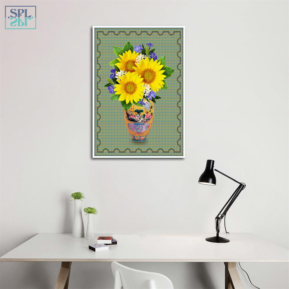 SPLSPL Modern Sunflower Canvas Art Print Painting Home ...