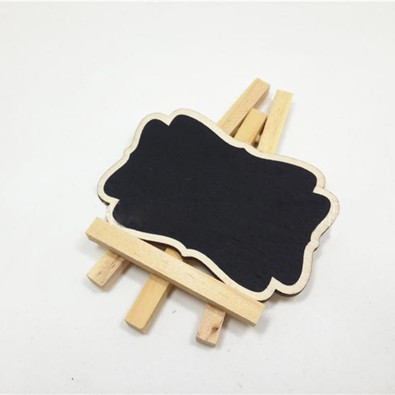 3pcs/lot Fashion Mini Wood Chalkboard Framed Chalkboard Vintage Blackboard Wooden Place Card Holder Wedding Party Decorations image