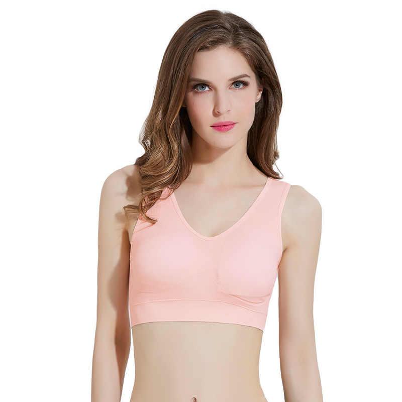 4b0e9ab4b6 Mozhini sexy bra with pads seamless push up bra big size 3XL underwear  padded cup big chest wireless bra tops t shirt finess bra