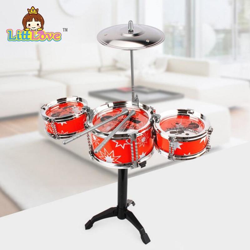 LittLove Kinder Jazz Drum Set Musikinstrument Spielzeug Spielset mit - Lernen und Bildung - Foto 3