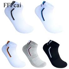 FFFcai, 5 пар, мужские летние тонкие короткие спортивные хлопковые носки, мягкие спортивные носки для бега, дышащие носки для улицы